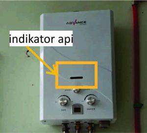 Indikator api pada water heater gas tidak menyala